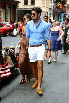 Mens summer style - short shorts are in the this season