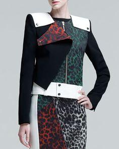 Durango Leopard-Jacquard Jacket by Roland Mouret at Neiman Marcus Last Call.
