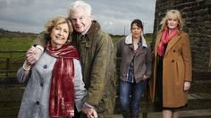 Last Tango in Halifax ~ . Derek Jacobi Sarah Lancashire Nicola Walker PBS Last Tango in Halifax Great Tv Shows, New Shows, Drama Channel, Last Tango In Halifax, Nicola Walker, Sarah Lancashire, Romantic Series, Bbc Drama, Converse