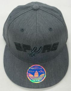 NBA San Antonio Spurs Adidas Hat Structured Flex Fit Cap M141Z RARE NEW e2365fcfc