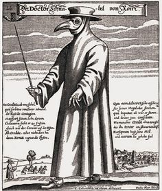 Doctor Schnabel von Rom A 17th-century plague physician in protective clothing.Etching by Paulus Furst of Nuremberg, Germany, 1656.
