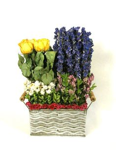 Dried Floral Arrangement Contemporary by summersweetboutique, $45.00