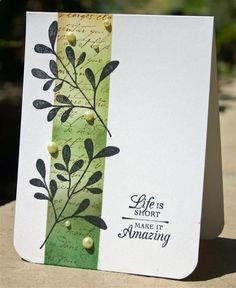 Pretty with script stamp background.
