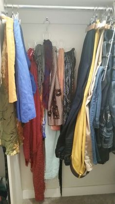 cable strap hack storage solution, bedroom ideas, closet, organizing, repurposing upcycling, storage ideas