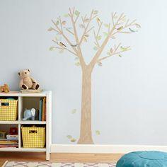 Kids' Wall Decals: Kids Birds, Leaves