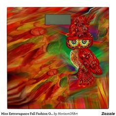 Miss Extravagance Fall Fashion Owl Bathroom Scale
