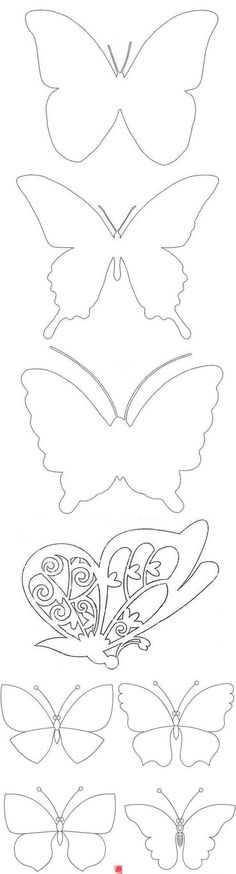 Butterfly template to color, appliqué, etc. Butterfly Party, Butterfly Crafts, Butterfly Mobile, Butterfly Tree, Diy And Crafts, Crafts For Kids, Arts And Crafts, Paper Butterflies, Paper Flowers
