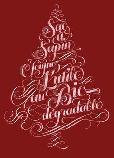Sac à sapin - handicap international on Typography Served Typography Served, Typography Letters, Lettering, Typography Poster, Christmas Artwork, Christmas Cards, Hand Drawn Type, Editorial Design, How To Draw Hands