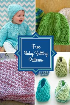 """<a href=""""http://www.allfreeknitting.com/Knitting-for-Babies"""" target=""""_blank"""">Knitting for babies</a> is one of the most exciting kinds of knitting projects. From hats and booties to blankets and sweaters, babies need a little bit of everything ... and you can knit it all for them using these 75+ Free Baby Knitting Patterns! If you're knitting for a newborn, you can make a cute hat using the <a href=""""http://www.allfreeknitting.com/Baby-Knit-Hats/Tiny-Ang..."""