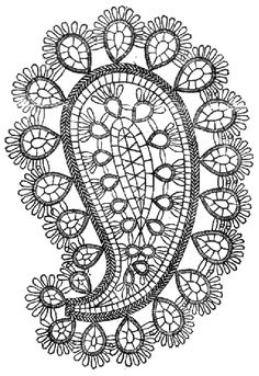 paisley #tatting #tatted #tat #lace