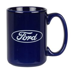 Rise-and-shine essential holds 15 oz of steaming morning brew. Easy-grip C handle and vivid ceramic pigment make this one an instant favorite. Screenprinted Ford Oval center one side. Simple Gifts, Easy Gifts, Mustang Parts, Ford Girl, Screen Printing, Brewing, Coffee Mugs, Ceramics, Handle