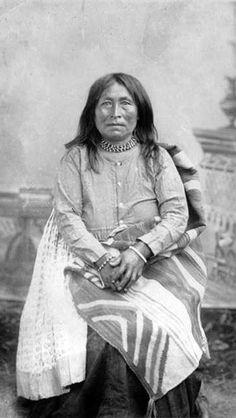 Geronimo's Wife Marlenetta, a Chiricahua POW at Fort Bowie, Arizona, April 1886.