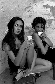 Maria Grazia Cucinotta in Puglia, Italy; captured by Ferdinando Scianna for Lavazzo (1995)