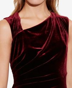 Lauren Ralph Lauren Stretch-Velvet Sheath Dress, Regular & Petite Sizes - Cordovan 8P