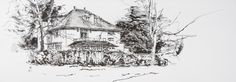 Villa Sonnewende, Bussum, the Netherlands. Lex Hamers. Drawing on paper, 70 x 25 cm. 02/2013