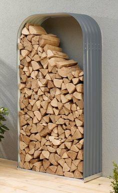 Kaminholzregal , BxTxH: 99x40x200 cm Aluminium, Firewood, Shed, Texture, Material, Crafts, Diy Ideas, Products, Wood Stoves