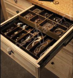 Custom Double deck jewelry drawer - contemporary - closet - los angeles - Kay Wade, Closet Factory, VP-Head Designer