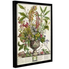 """Lark Manor January from Twelve Months of Flowers Framed Graphic Art Size: 24"""" H x 18"""" W x 2"""" D"""