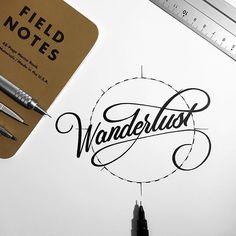 Wanderlust #typography @fieldnotesbrand #Copenhagen