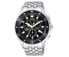 Citizen Men's Eco-Drive Perpetual Calendar Chronograph Watch - Silver/Black