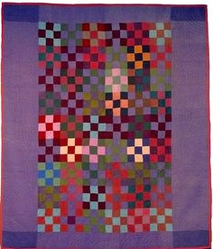 Nine-Patch, Amish. Lancaster Co, Pennsylvania.This is the story of how 82 masterpiece quilts, made about 100 years ago by Amish women in Lancaster County, left Pennsylvania … and came home again. Antique Quilts, Vintage Quilts, Antique Crib, Primitive Quilts, Amische Quilts, Amish Quilt Patterns, Nine Patch Quilt, Quilt Modernen, Traditional Quilts