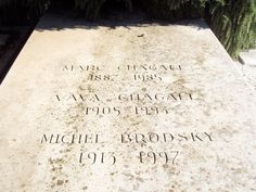Grave Marker- Marc Zaharovich Chagall (b.1887), French/Russian painter, died at 97. (2 of 2)