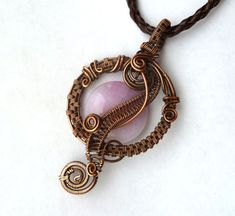 Wire wrapped pendant / Wire Wrapped jewelry by PillarOfSaltStudio, $50.00