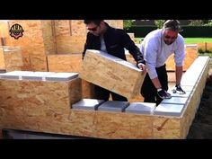 Incredible Fastest Wooden House Construction - Faster And Less Inexpensive Construction Solutions - YouTube Shipping Container Home Designs, Container House Plans, Container House Design, Home Building Kits, Shed Building Plans, Building A House, House Lift, Construction Tools, A Frame Cabin