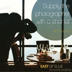 """Don't let any important aspect of your event go uncaptured! Talk to the photographer before the event and give them a list of """"must haves"""". From florals to candid moments of special guests, you can never be too specific to ensure the special moments are captured on event day. Delete Comment"""
