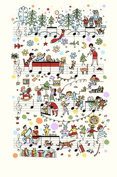 People Too, Jingle Bells. Photo courtesy Alexey Lyapunov and Lena Erlich / People Too. Sheet Music Art, Music Paper, Music Sheets, Music Painting, Music Artwork, Music Images, Music Pictures, Musik Illustration, Music Doodle