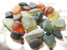Autumnal colors of sea glass, earthy sea glass hues, Greek sea glass supply by BeniciaSeaglass on Etsy