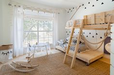 Image result for scandinavian style long curtains kids