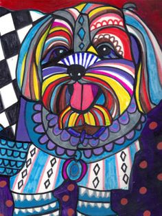 """Yorkipoo"" par Heather Galler"