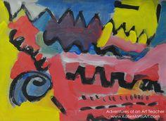 Adventures of an Art Teacher First Year Teachers, New Teachers, Dry Brush Painting, Art Friend, Arts Ed, Elements Of Art, Siena, Art Education, Art Lessons