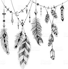 detailed-feathers-in-boho-style-vector-id516986628 (1008×1024)