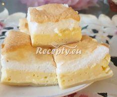 ▷ Rychlý tvarohový koláč s sněhem recept - Recepty.eu Dairy, Cheese, Food, Essen, Meals, Yemek, Eten