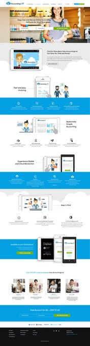 Home Page Design for Web Accounting Software by Isabel Design