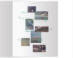 This redesign of Time-Life's Ecology book uses type and photography and overlays them to create an interesting modern take on the Table of Contents.
