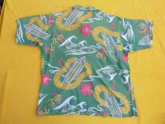 """Pilgrim"" label, 50s rayon shirt, a 'Keoni of Hawaii' John Meigs design"