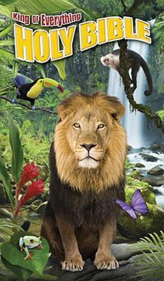 The brand new King of Everything Bible is available starting today!   With a 3D cover and stunning photography from National Geographic, this Bible reminds animal lovers how amazing our Creator really is!
