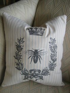 """My Craft and Sewing studios, have been a mess lately, as I have been very busy making crafts to put into the """"Country Store"""" within the fair. Cushions To Make, Diy Pillows, Boho Pillows, Custom Pillows, Decorative Pillows, French Country Bedding, French Country House, French Pillows, Decoupage"""