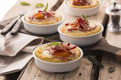 Tortini di polenta farciti con uova e speck | Polenta Valsugana