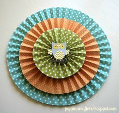 Pajama Crafters: Weekend Pajama Party: Paper Rosette Tutorial