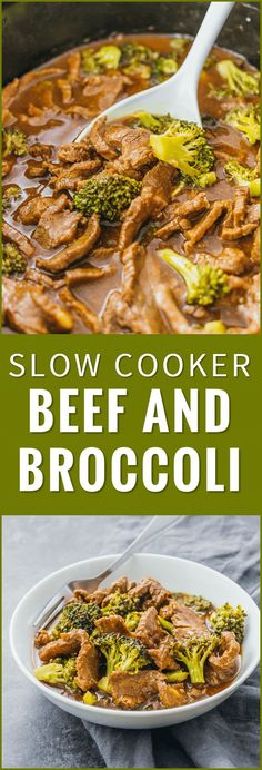 Check out the slow cooker version of my popular beef and broccoli recipe. Easier to make, healthier, and tastes way better than takeout. crock pot, easy, stir fry, keto, healthy, recipe, pioneer woman (Healthy Beef Recipes)