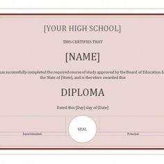 Looking for free Printable High School Diploma Template? ✅ These diploma templates are free to use & can be edited online. Free High School Diploma, High Diploma, Private School, Public School, Education Degree, Going To University, Core Curriculum, College Courses, How To Start Homeschooling