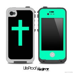 The Black & Trendy Green Simple Vector Cross Skin for the iPhone or 5 LifeProof Case from DesignSkinz. Cool Iphone Cases, Cool Cases, Cute Phone Cases, Iphone 4s, Iphone Charger, Michaela, Iphone Accessories, Ipad Case, 5c Case