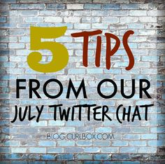 Did you miss out on our #julycurlbox Twitter chat? No worries. Here are 5 tips you may have missed? http://blog.curlbox.com/2015/07/30/5-tips-from-our-july-twitter-chat/