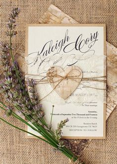 TOP 24 Rustic Chic Wedding Invitation Ideas