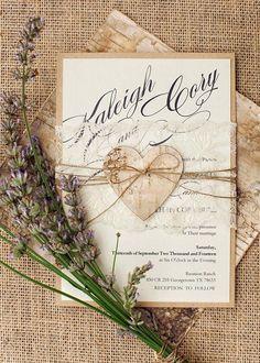 TOP 24 Rustic Chic Wedding Invitation Ideas