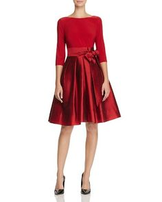 $Adrianna Papell Mixed Media Dress - Bloomingdale's
